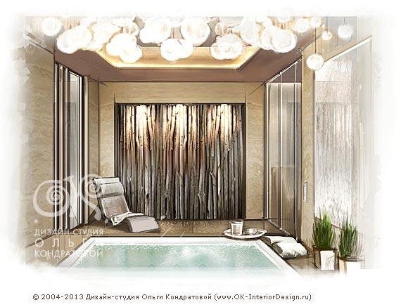 Дизайн СПА зоны в квартире