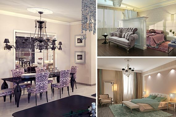 Стилистическое своеобразие интерьеров каждой квартиры