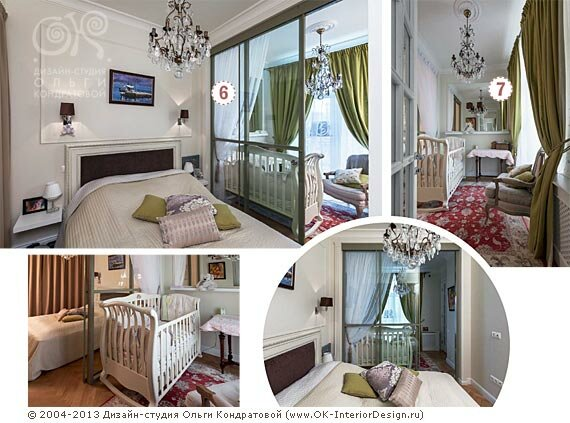 Дизайн спальни в квартире на Котельнической
