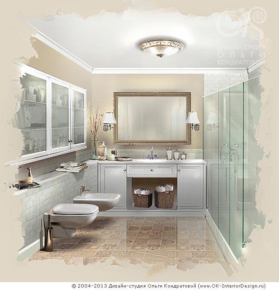 Французский интерьер ванной
