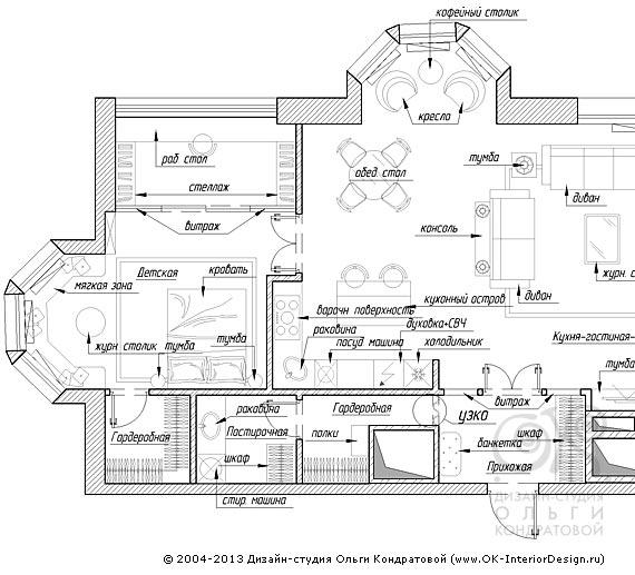 Дизайн интерьера квартир,