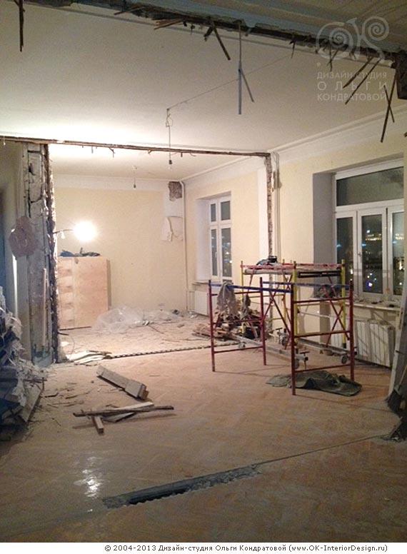 Демонтаж старой отделки квартиры