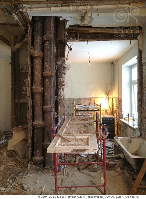 Демонтаж тсарой отделки и экспертиза помещения