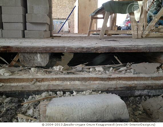 Демонтаж пола в квартире на Гончарной
