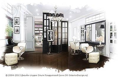 Дизайн салона красоты в стиле ар-деко
