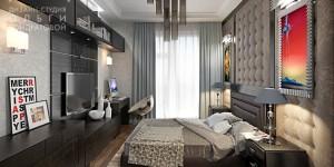 Дизайн спальни с рабочей зоной