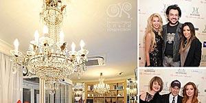 Филипп Киркоров, Ани Лорак, Юлия Савичева и Лада Фетисова на презентации салона Александра Шевчука, спроектированного в нашей дизайн-студии