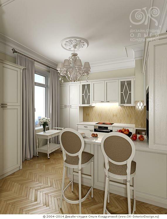 Кухня студия с барной стойкой дизайн фото 2