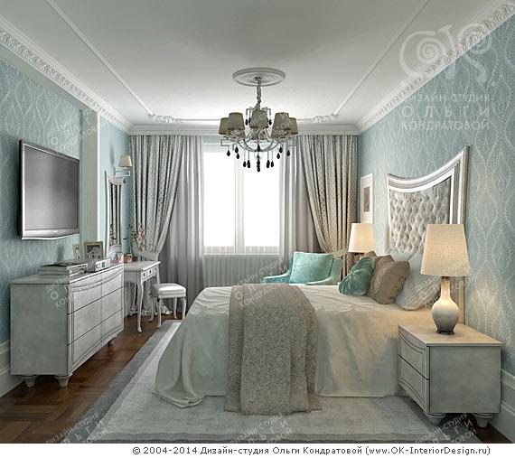 Дизайн спальни в духе Французской Ривьеры