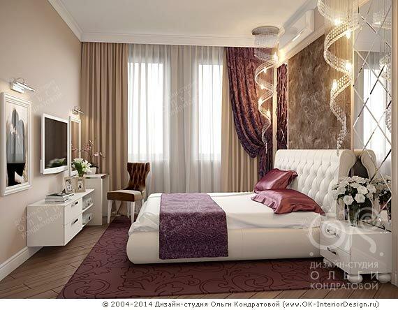 Дизайн спальни в стиле арт-деко