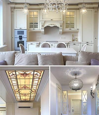 Реализованнй дизайн-проект интерьера квартиры на Войковской