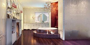 Королевская ванная в загородном доме