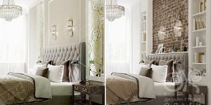 2 варианта дизайнерского решения спальни