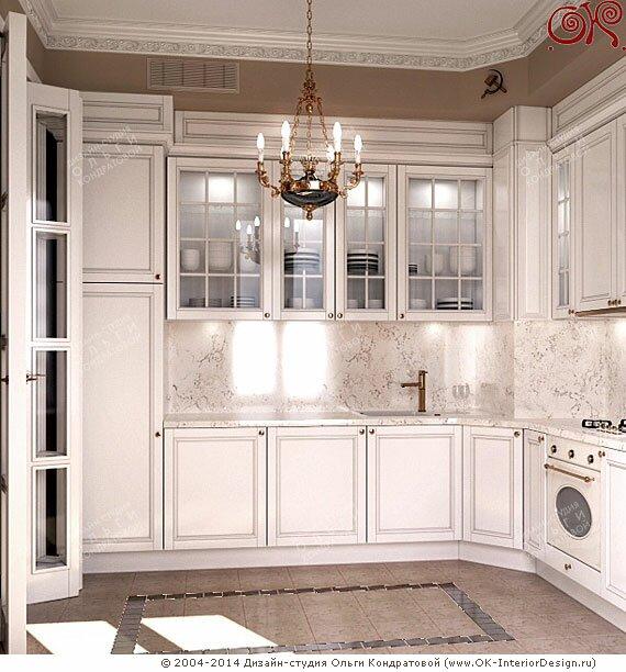 Дизайн ампирной кухни в сталинской высотке - Apoi.ru