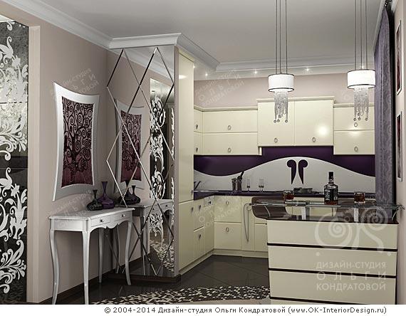 Дизайнерское решение интерьера кухни