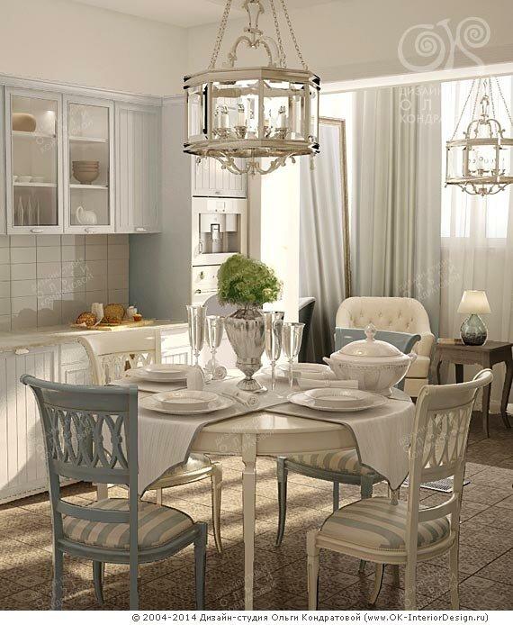 Дизайн серой кухни в стиле прованс