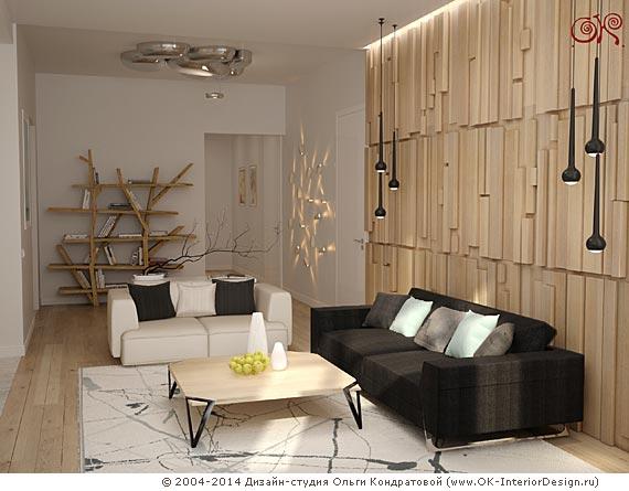Дизайн диванной зоны гостиной