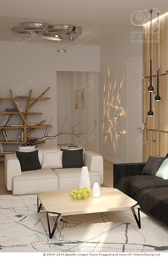 Дизайн эко-гостиной в квартире