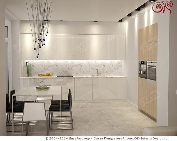 Интерьер минималистичной кухни