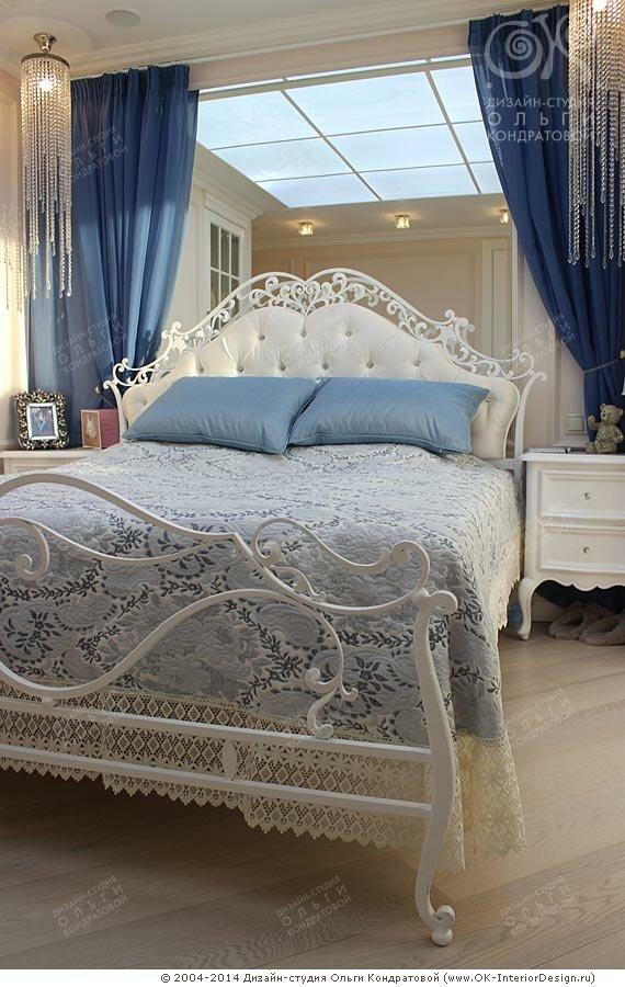 Убранство прикроватной зоны в спальне
