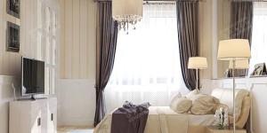 Современный интерьер спальни 12 кв.м.
