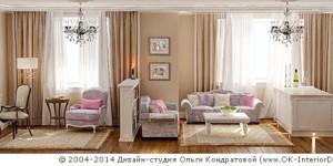 Зонирование квартиры-студии при помощи мебели