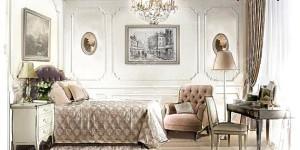 Французская классика в интерьере спальни