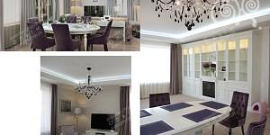 Визуализация и фото готового интерьера квартиры