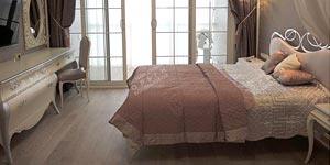 Воплощенный интерьер спальни