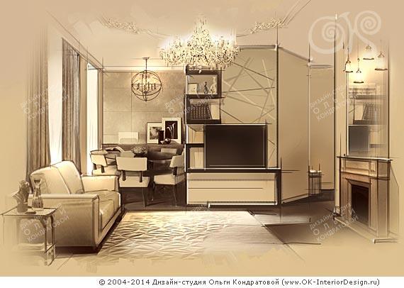 Дизайн винтажной гостиной