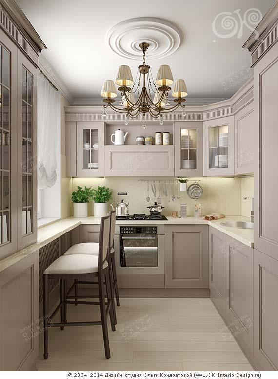 Дизайн кухни 6 на 3 фото