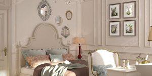Дизайн французской спальни в доме