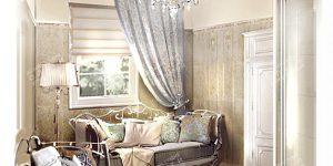 Дизайн душевой комнаты в стиле ампир
