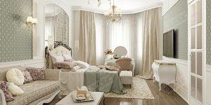Спальня в стиле ар-нуво
