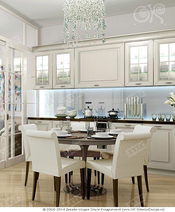 Интерьер кухни-столовой в квартире