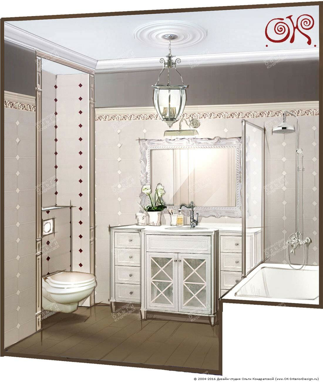 Дизайн белого санузла в стиле прованс