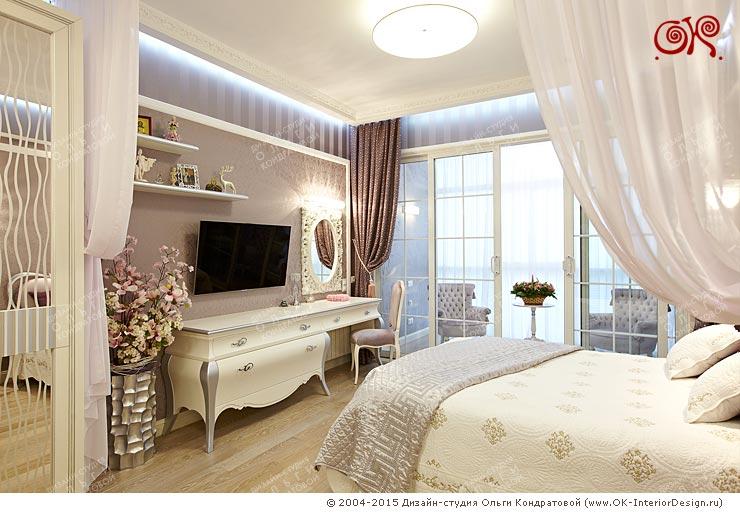 Фото интерьера спальни в квартире на Мытной