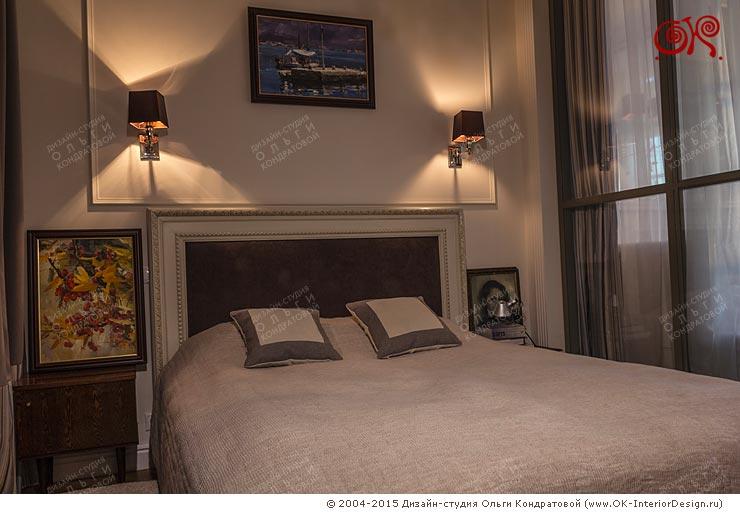Фото интерьера спальни в квартире на Котельнической набережной