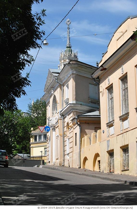 Жилые дома в историческом центре Москвы