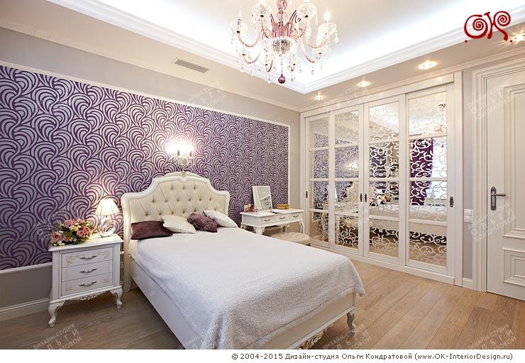 Фото интерьера спальни старшей дочери