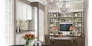 Дизайн кухни-гостиной с нишей