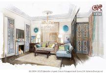 Дизайн гостиной с присоединенной лоджией
