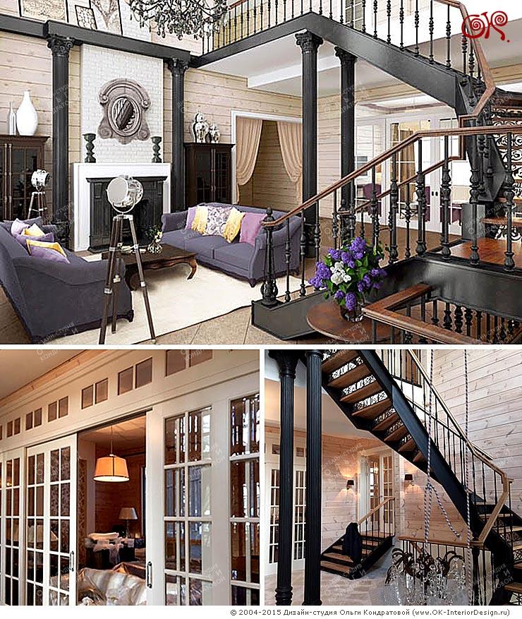 Фото интерьеров дома в Подмосковье после ремонта под ключ по дизайн-проекту