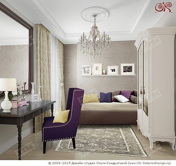 Фото интерьера гостевой комнаты в доме