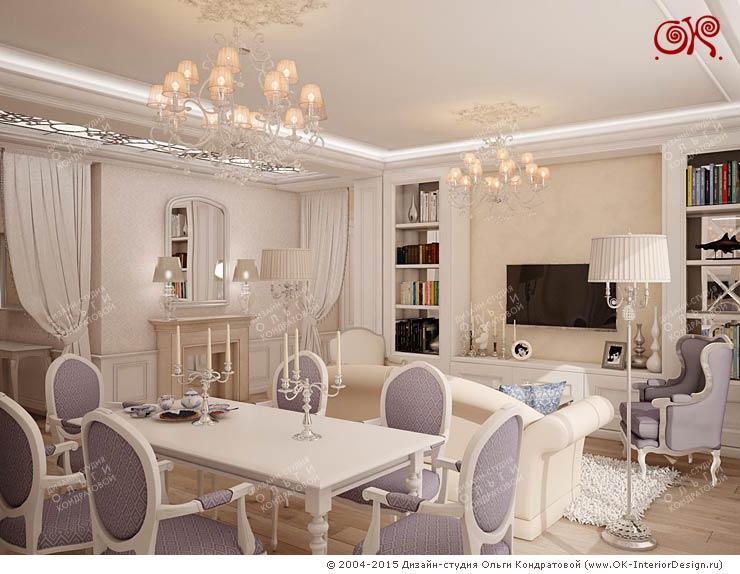 Визуализация дизайн-проекта гостиной