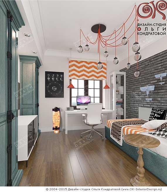 Дизайн детской комнаты для мальчика в стиле лофт
