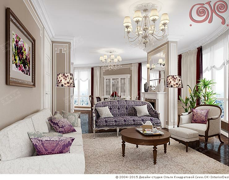 Дизайн интерьера гостиной. Фото 2015