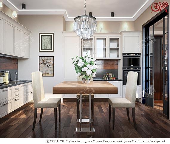 Дизайн кухни-столовой. Проект 2015 года
