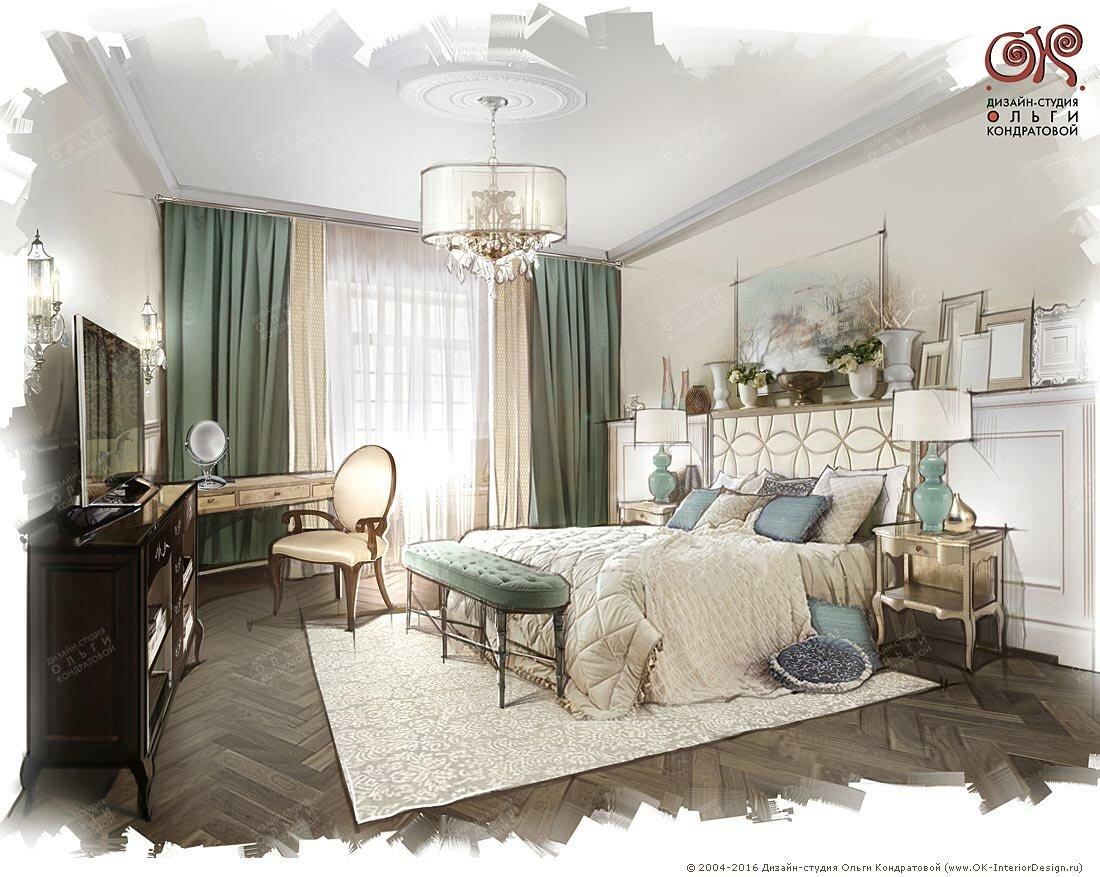 Дизайн спальни с элементами арт-деко