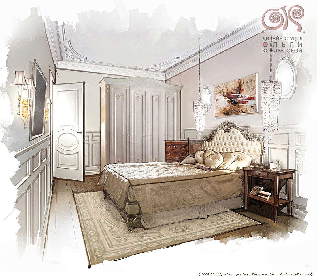 Дизайн спальни в оттенках бежевого